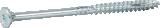 Skrūve kokam ESSDRIVE 5.0X70mm Zn 100gab/iep., ESSVE 136129