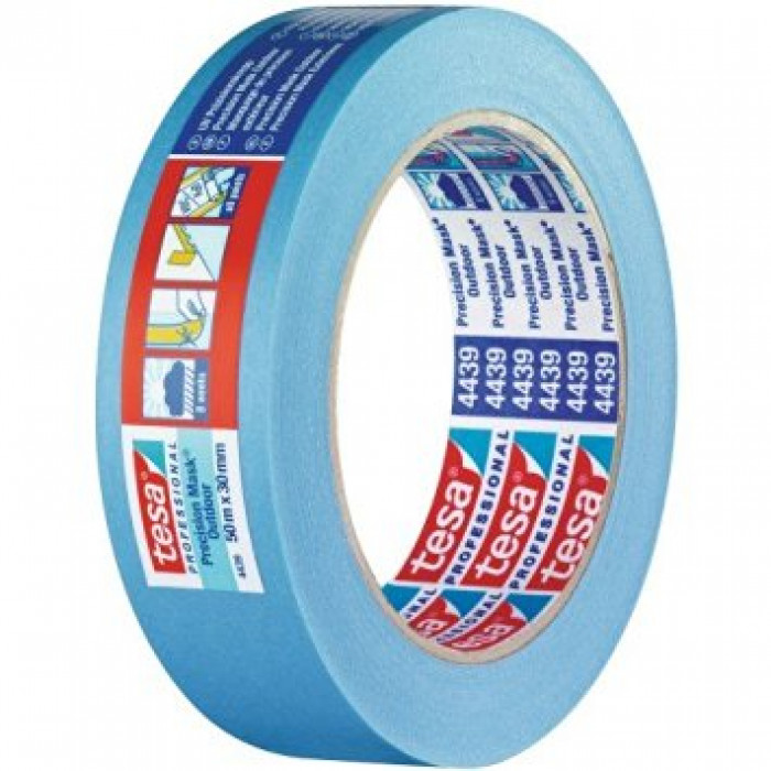 High grade paper masking tape for precise and flat paint edges outdoors
