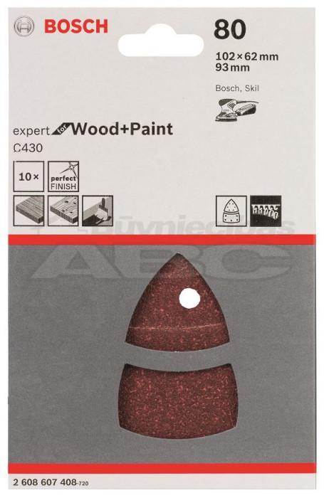 Slīppapīrs kokam P80 PSM 16 A  10gb