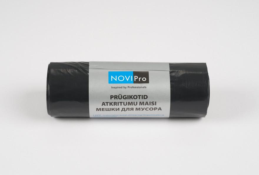 NOVIPro Atkritumu maisi 100L  10gb/rullī melni