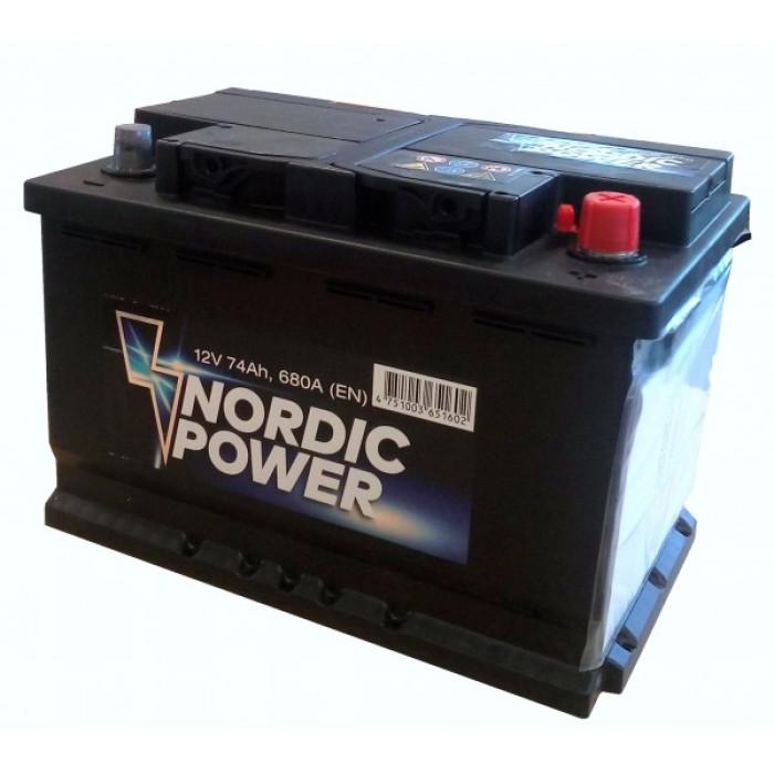 Battery NORDIC POWER 12V/60Ah /520A AKB 242x175x190