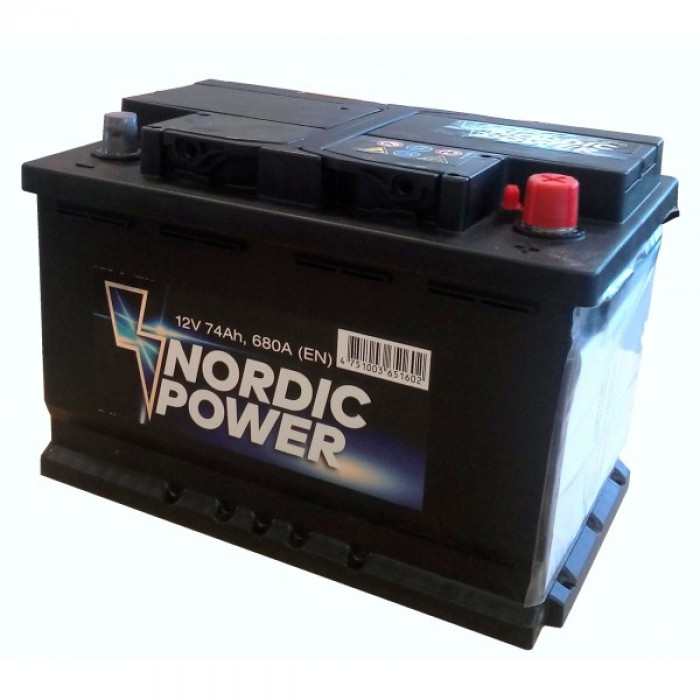 Car Battery NORDIC Power 12V/100Ah/830A 353x175x190