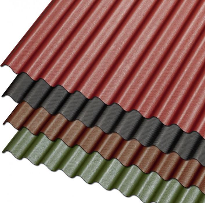 Guttanit K-11 76/30x830x2000mm bitumena viļņotā loksne, brūna