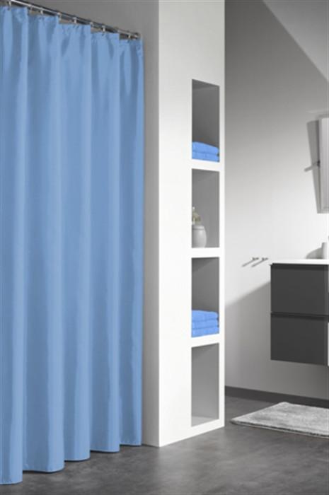 GRANADA shower curtain vinyl, blue, 120x200 cm