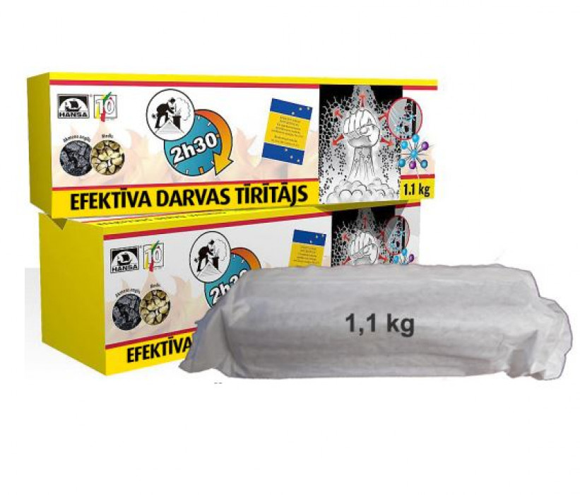 Concentrated chimney sweeping log, 1.1 kg – HANSA