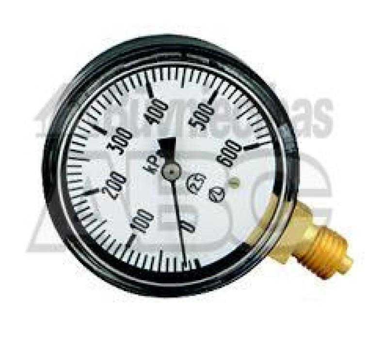 "Manometer D63 10ATM 1/4"""