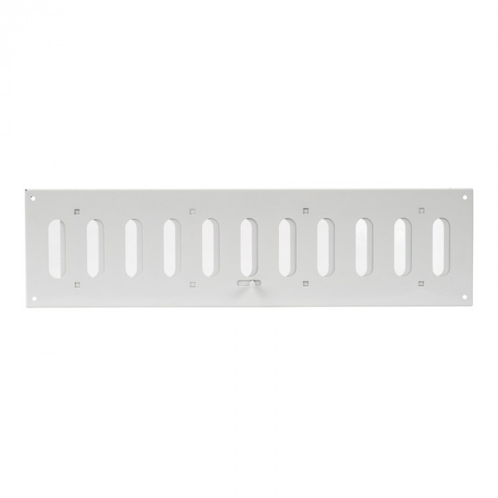 grille metal, 400x100mm, adjustable, white