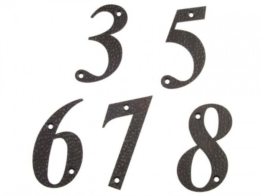 Numurs 6, melns, 100x65mm