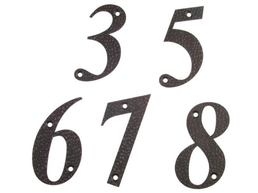 Numurs 7, melns, 100x65mm