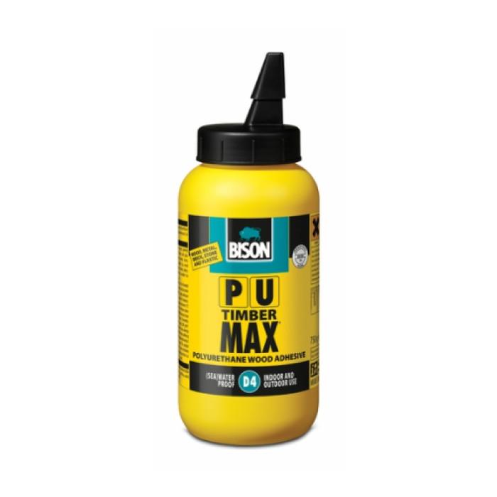 Bison PU TIMBER MAX 750ml D4 polyurethane-based wood adhesive