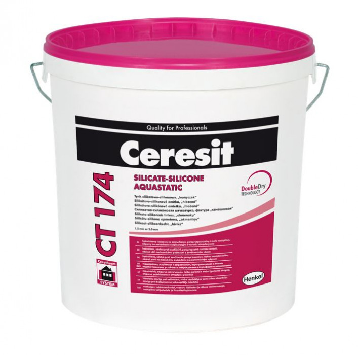 Ceresit CT174 25kg Silicate-silicone plaster, stone like structure, grain 2.0 mm