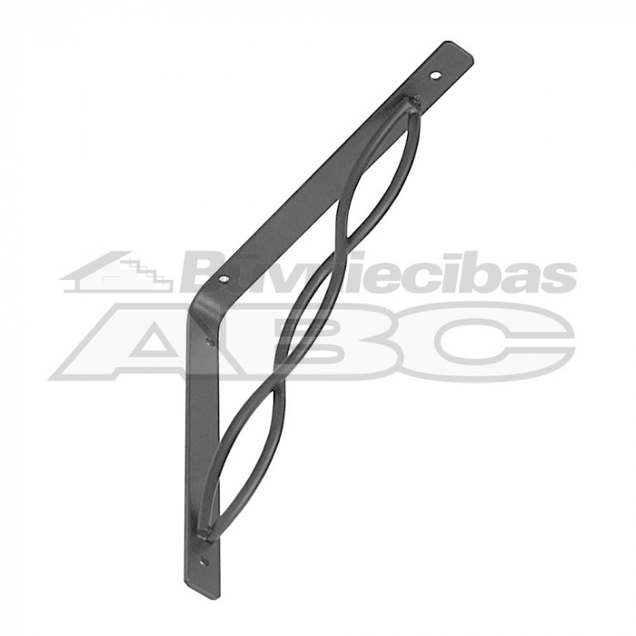 Bracket with interlaced rod 200*200 black