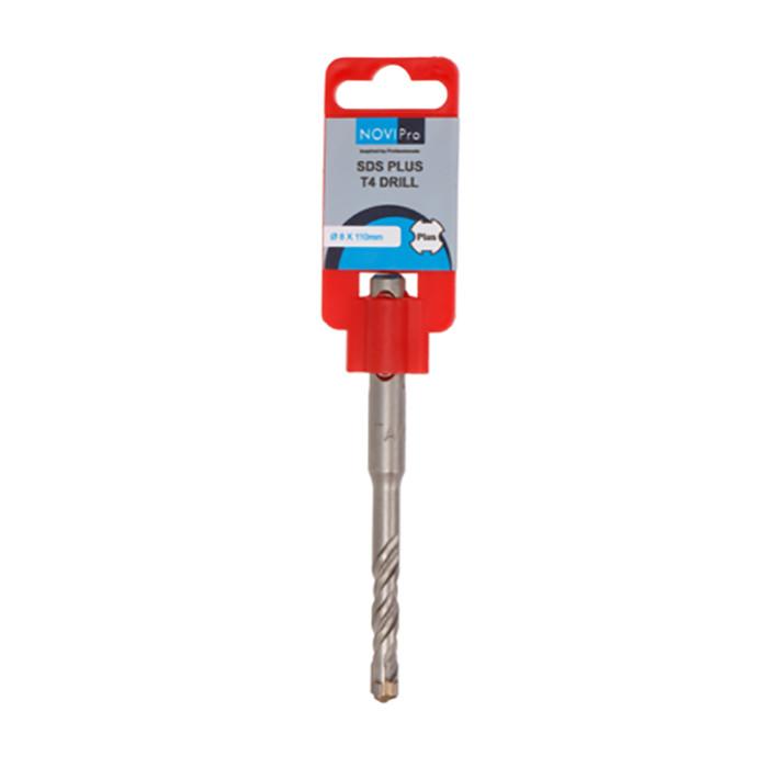 Hammer drill bit SDS plus S4 8x50/110mm NOVIPRO