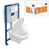 Villeroy&Boch O.Novo pods, ViConnect iebūv. rāmis, soft-close vāks, balta skalošanas poga