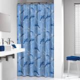 DELFINO shower curtain vinyl, blue, 180x200cm