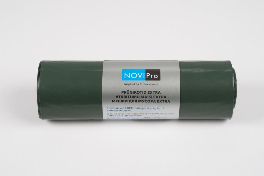 NOVIPro Atkritumu maisi 250l  5gb/rullī zaļi
