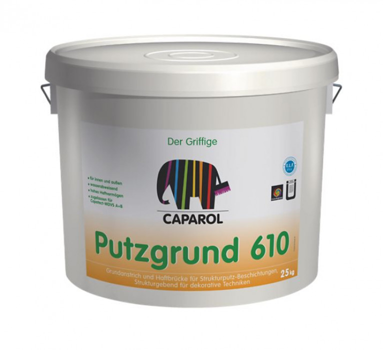 Pigmented, adhesion promoting primer for exterior textured render applications Putgrund 610, 25 kg