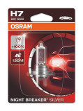AUTO SPULDZE OSRAM 55W 12V  H7 Night breaker silver 1gb blister